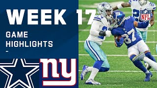 Cowboys vs. Giants Week 17 Highlights