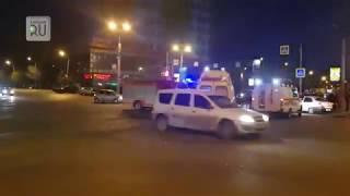 В Кургане у «Дома Быта» столкнулись «ВАЗ» и иномарка. В ДТП пострадала девушка
