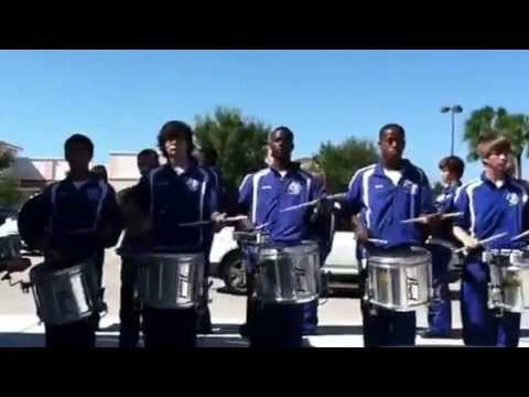 Barron collier high school drum line stick control