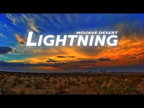 Wicked Lightning Storm in the Mojave Desert