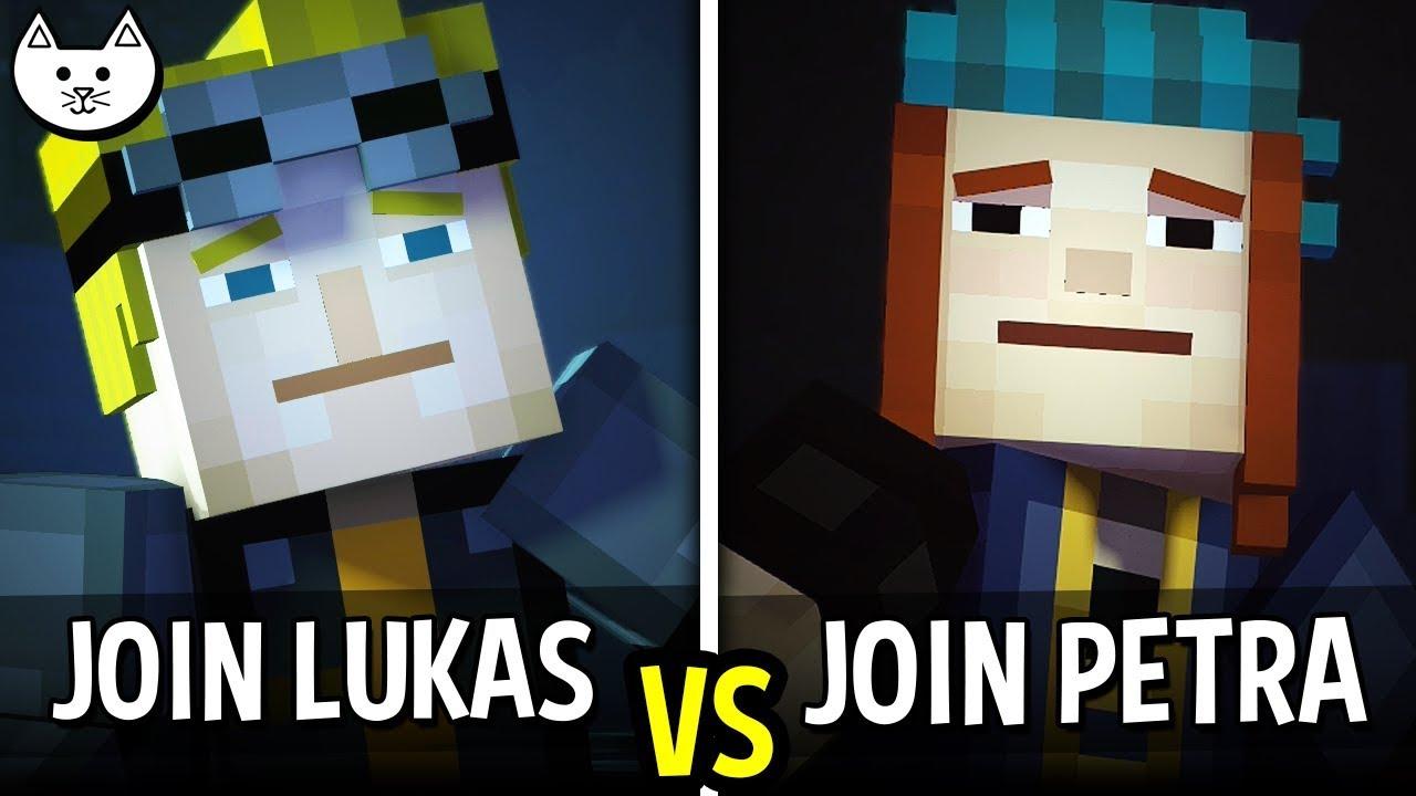 Join Lukas Vs Join Petra Minecraft Story Mode Season 2 Episode 2