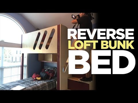 Kid's Loft Bunk Bed Flipped Upside Down | Makers on the Move! Ep. 1
