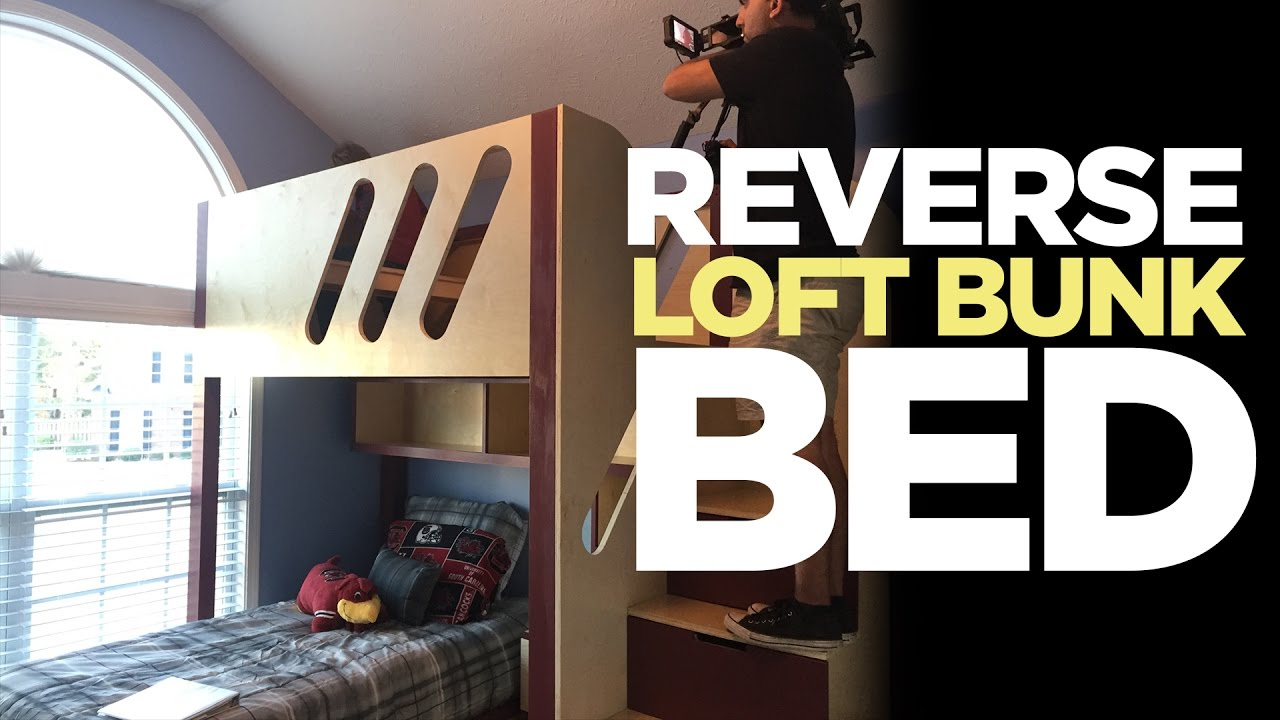 chair rail upside down padded folding chairs kid s loft bunk bed flipped makers on the move ep 1 youtube
