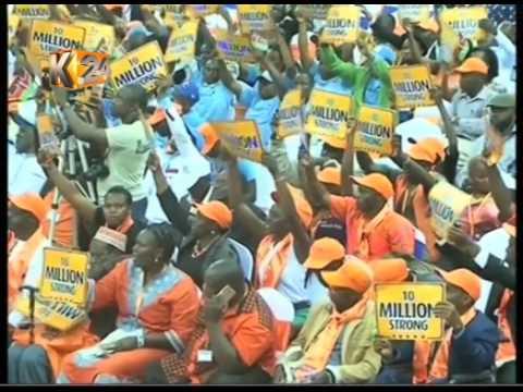 ODM delegates endorse Raila  as NASA's  flag-bearer
