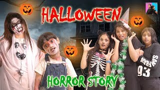Happy Halloween 2019 l Haunted House l Halloween Scary Story l Anu And Ayu Twin Sisters