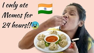 I only ate MOMOS for 24 HOURS!! Craziest Momos Challenge