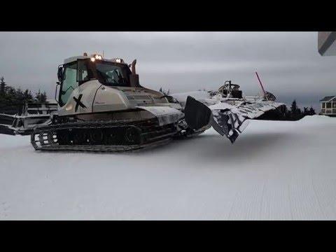Okemo Snowcat Excursions Prinoth Bison X Groomer - YouTube