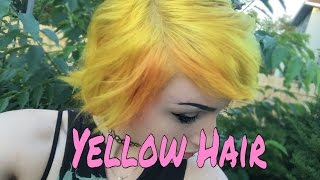 Dying My Hair Bright Yellow | Manic Panic Sunshine