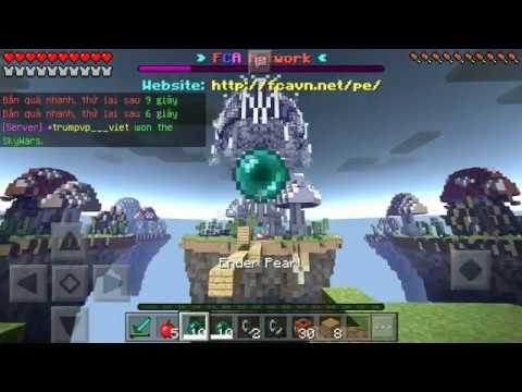 ĐÁNH BOM LIỀU CHẾT TRONG SKYWAR SERVER FCA | Minecraft PE 1.1.0.9