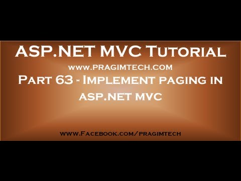 Part 63Implement paging in asp net mvc