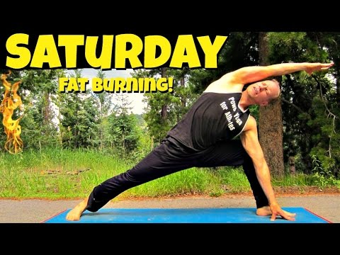 Saturday - Power Yoga Cardio Fat Burning Routine - 7 Day Yoga Challenge #7dayyogachallenge