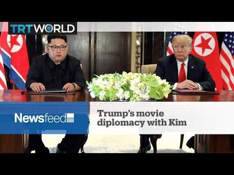 NewsFeed: Trump plays film for Kim