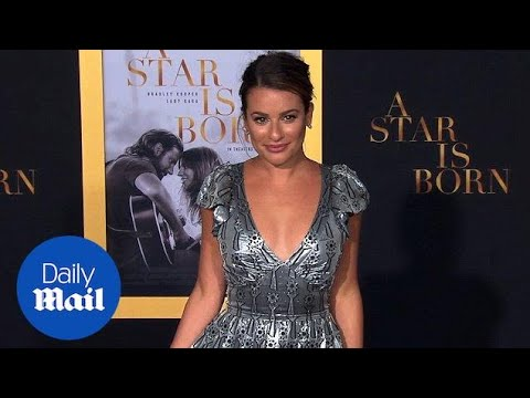 Lea Michele majestic and metallic at 'A Star Is Born' premiere