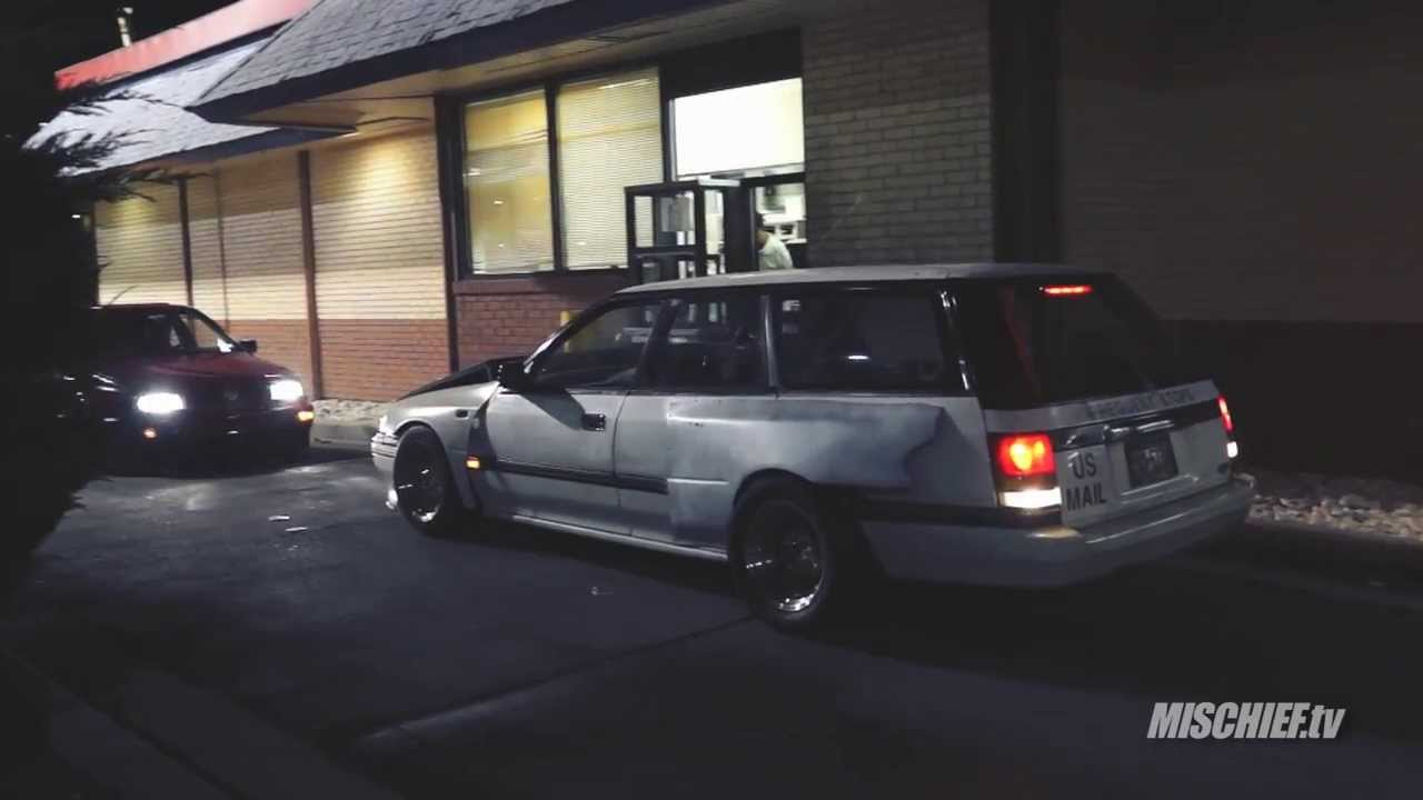 Custom Subaru Outback >> RHD Subaru Legacy Wagon Wide-Body Reverses Through Drive-Thru - YouTube