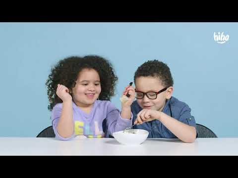 Funny l Children eat Russian food