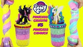 D.I.Y. Princess Celestia VS Princess Cadance SLIME CHALLENGE My Little Pony Do It Yourself Slime