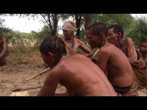 San Bushmen, Kalahari Desert Botswana Rock the Horse Song 2015