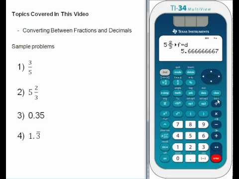 Converting Between Fractions And Decimals Wmv