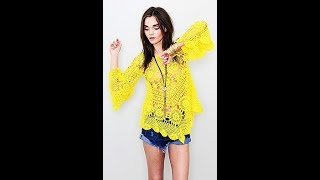 Красивая Летняя Кофточка Крючком - 2018 / Beautiful Summer Blouse Crochet / Schöner Sommerbluse