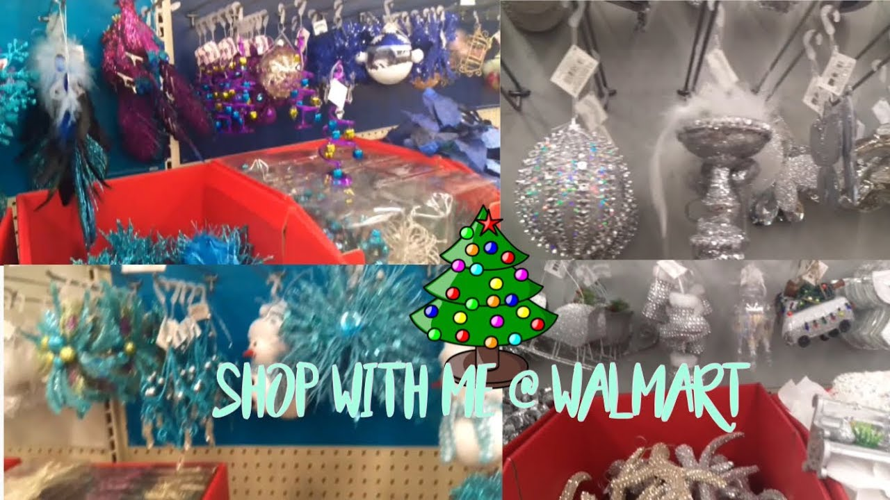walmart shop with me christmas decorations 2017