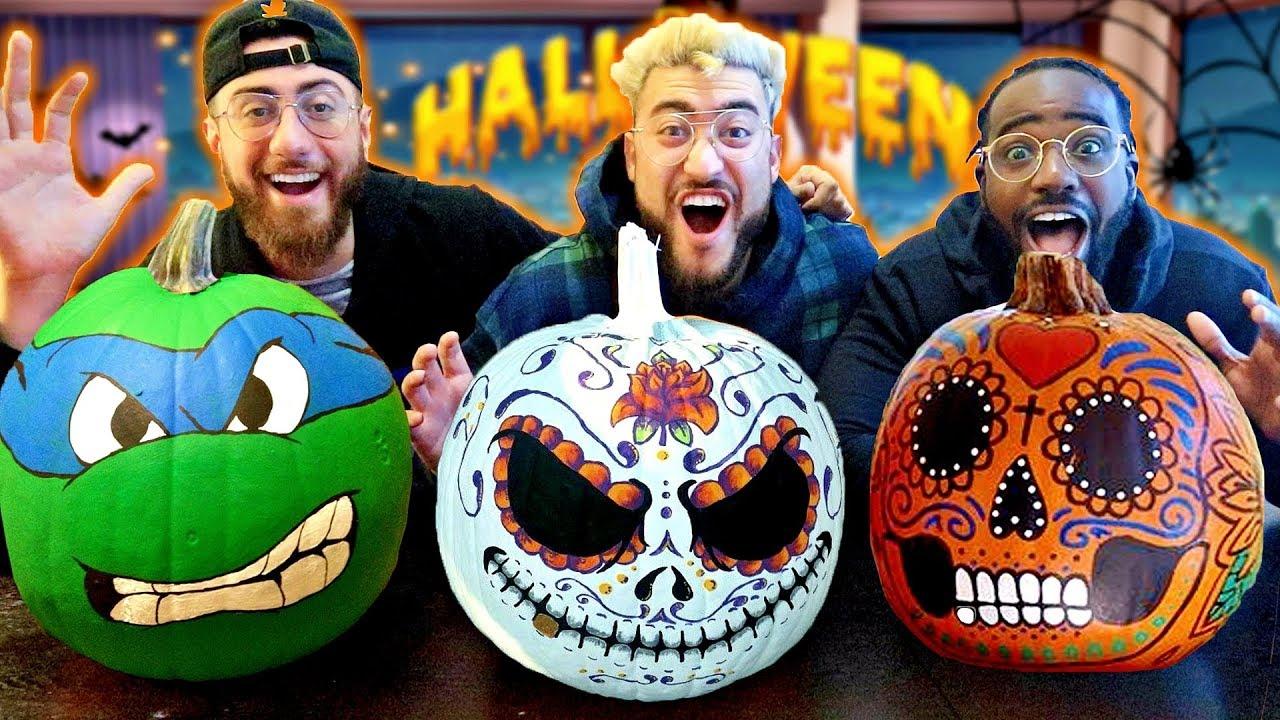 Custom Painting Halloween Pumpkins Diy Pumpkin Ideas Giveaway Winners Youtube