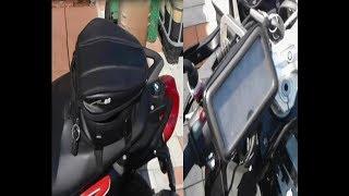 Обзор МОТО сумки и держателя телефона на руль.