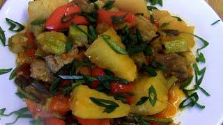 Чесночные стрелки с мясом и овощами. Этот рецепт вы будете готовить каждый день!