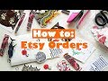 HOW TO Package Etsy Orders - Online Sticker Shop