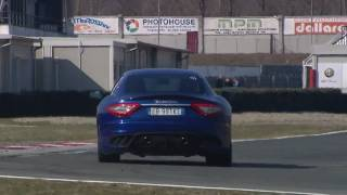 The new 2011 Maserati GranTurismo MC Stradale test drives - On track & on the road