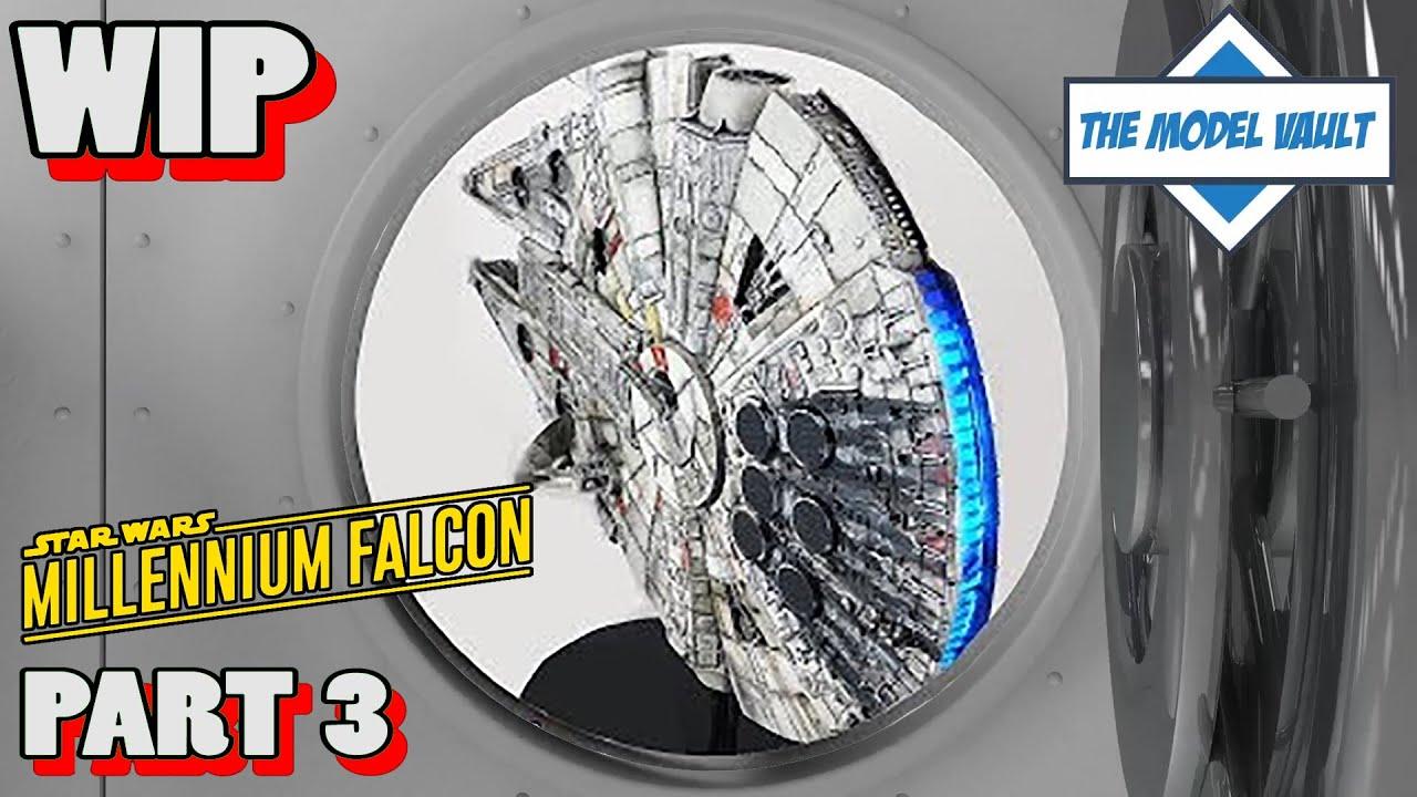 Millennium Falcon Cutaway 1/58 Scale AMT/ERTL Practice Build Part 3 Finale