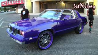 "Candy Purple Oldsmobile Cutlass on 24"" Asanti"