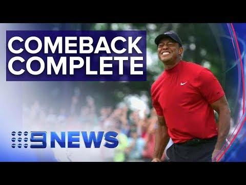 Tiger Woods wins 2019 Masters | Nine News Australia