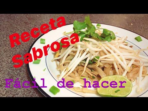 como-hacer-/-pad-thai-con-staek-/-receta-*-comida-tailandesa