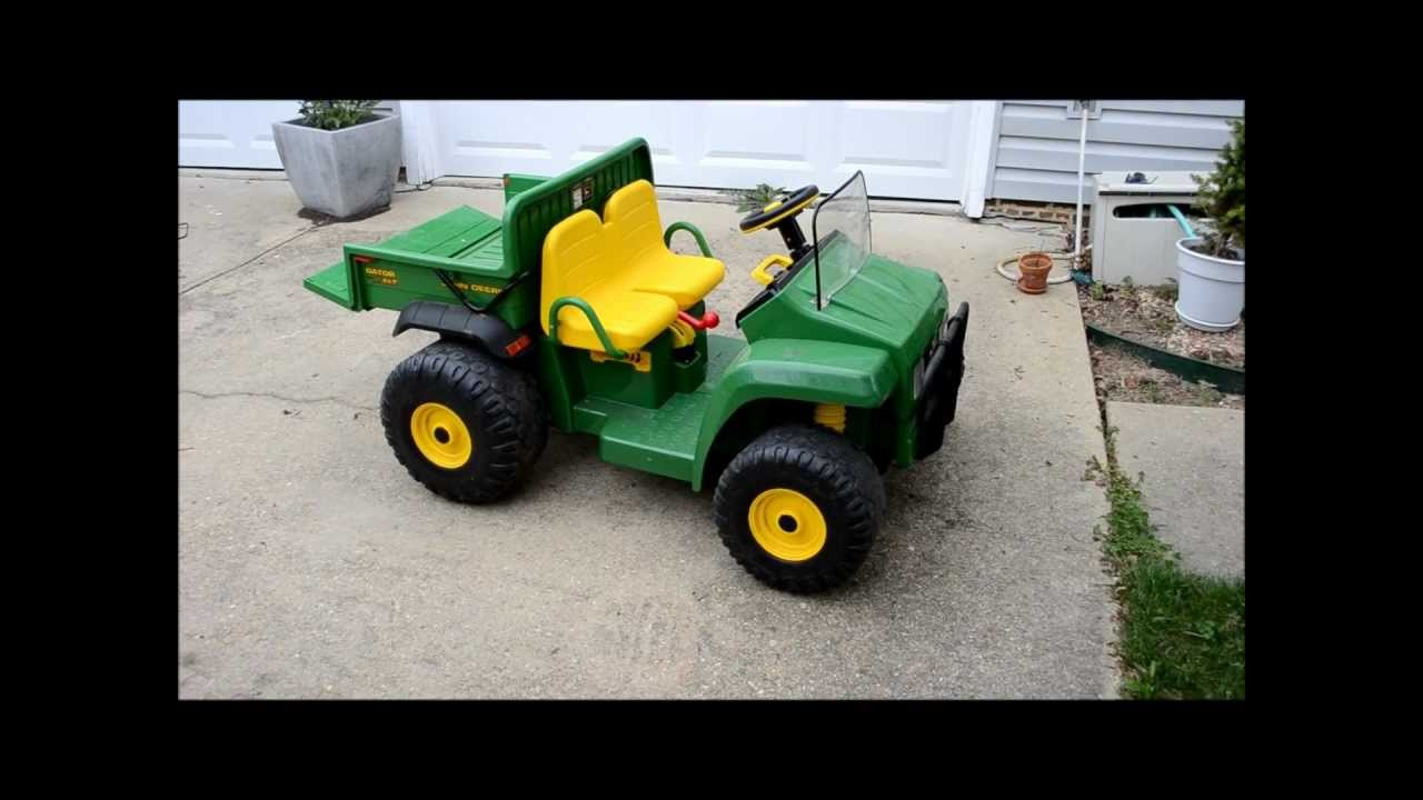 john deere hpx gator 12v childrens ride on electric toy. Black Bedroom Furniture Sets. Home Design Ideas