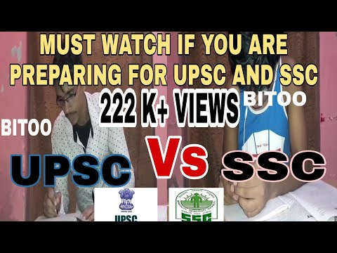 upsc vs ssc student life funny (whole life in a short) ssc or upsc, which one is better to be? BITOO
