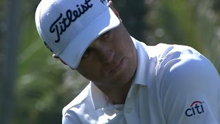 Justin Thomas flirts with an ace on No. 7 at Sony Open