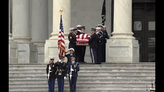Casket of George H.W. Bush departs U.S. Capitol for State Funeral - 4K Ultra HD