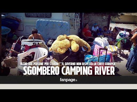 """Sgombero Camping River, oltre 300 persone per strada: """"Il governo non rispetta la Corte Europea"""""""
