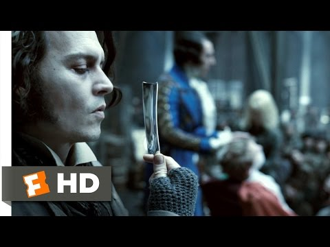 Sweeney Todd 38 Movie CLIP  Shaving Contest 2007 HD