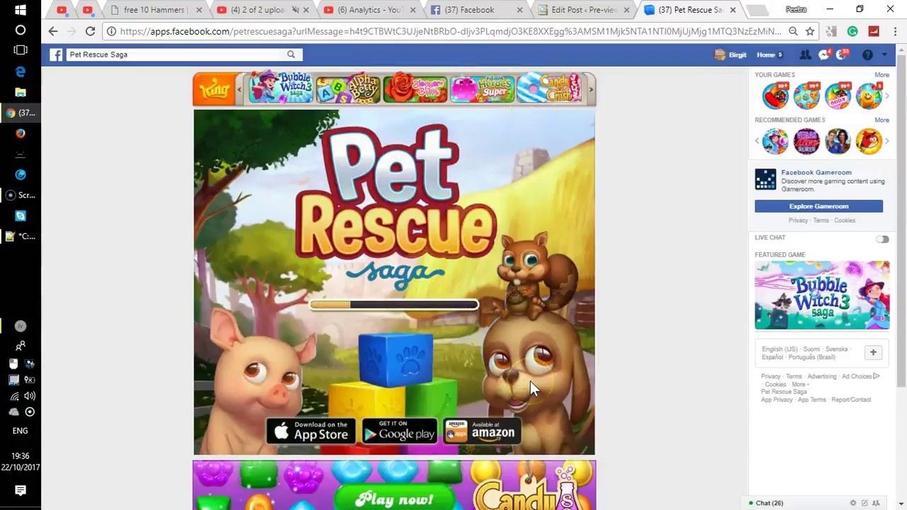 Pet Rescue Saga - Magic Link to retrieve your COINS and HAMMERS from FRIENDS
