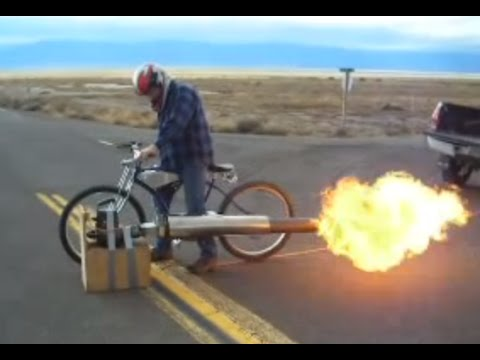 New Rocketman Show Starting 2017jet Engine Bicycle 50 Mph Really