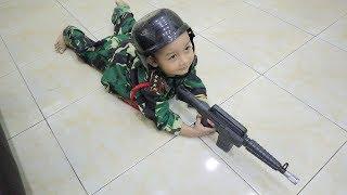 Akhirnya Dapet Juga Kostum Tentara Wow Azufi Keren Banget Jadi Tentara !