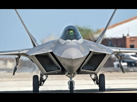 Worlds MOST ADVANCED Military Aircraft the US Air Force F-22 Aircraft flying