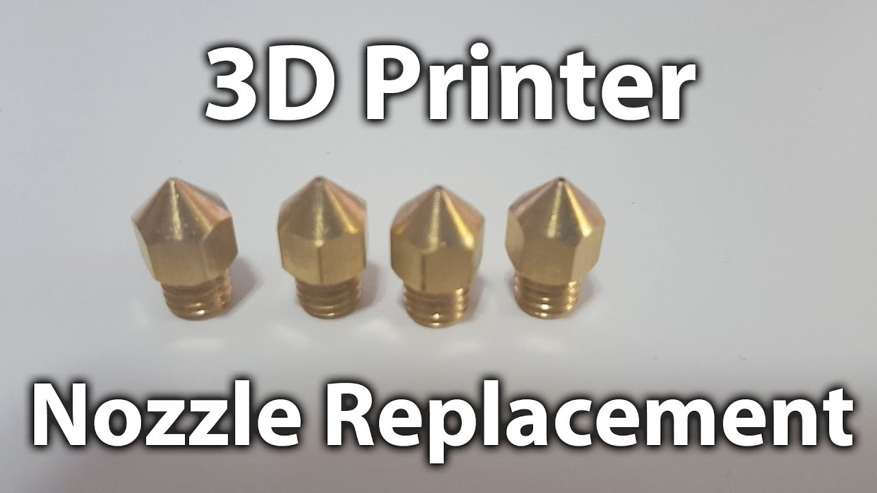 Replace 3D Printer Extruder Nozzle
