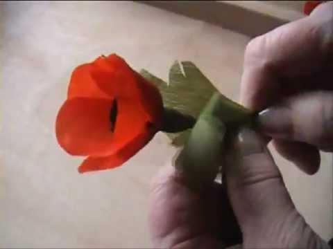 Fiori Carta Crespa.Fiori Di Carta Crespa Crepe Paper Flowers Papavero Papaver