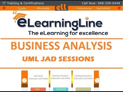 Business Analysis Training For Bignners Ba Uml Jad Session By Elearningline 848 200 0448