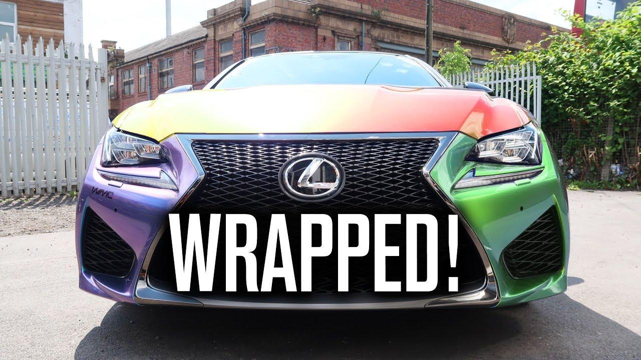 Lexus Rcf Wrap Reveal Youtube