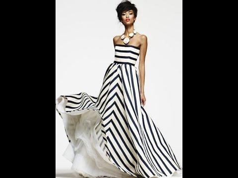 Платье - бюстье в полоску.  Моделируем.
