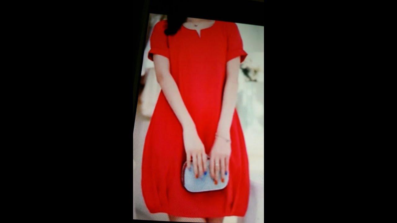 Hướng dẫn cắt đầm xuông cổ tròn, bo gấu-  Part 1 Đầm cơ bản. Women's dress tailoring.