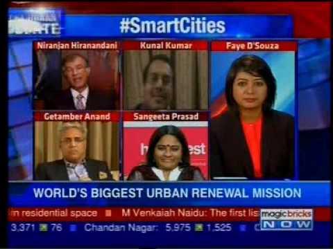 A report by Magic Bricks Now on Smart Cities -  Niranjan Hiranandani